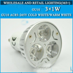 3W GU10 5pcs Warm White/Cold WhiteYour Ideal LED Lamp Bulb Spotlight LED Spot light Free Shipping(China (Mainland))