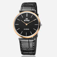 Dress Watches For Men Leather Strap Fashion EYKI Brand Men's Quartz Wristwatch Stainless Steel-EETS8639M