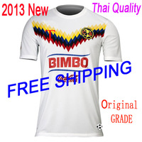 TOP QUALITY FREE SHIPPING Grade Ori Grade thailand quality  2013 Club America Away football jersey soccer jersey soccer shirt