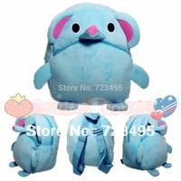 2014 3D pink blue elephant the children's bags / plush small backpacks for girls and boys the knapsacks are children's gift