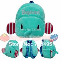 2014 3D elephant the children's cartoons fabric bags plush backpacks for girls and boys the knapsacks are children's gift