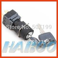 HBA16 dia.16mm waterproof 2 positions key lock push button switch 3NO+3NC