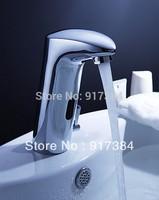 Automatic Hands Touch Free Sensor Modern Design Faucet Bathroom Sink Tap JN89007-1