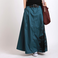 2014 summer 100% cotton Super Long Floor Length skirt women's Solid Color maxi long Skirt bust skirt expansion half-length skirt