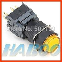 dia.16mm led lighted 6V,12V,24V,110V,220V reset push button switch 3NO+3NC