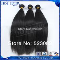 AAAAA grade un-processed human hair weave straight brazillian virgin hair straight 3pcs