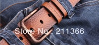 2013 BLACK DESIGNER fashion new hot sale first layer cowskin genuine leather men and women belt  top quality