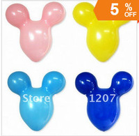 100pcs/lots Best quality wholesales Children's toysThe large Mickey head and ears balloon,Mickey Mouse latex balloons