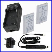 Battery (2-Pack) + Charger for Nikon EN-EL5 and Coolpix P80,P90,P100, P500,P510,P520,P530, P5000,P5100,P6000, S10 Digital Camera