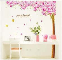 2013 Hot selling high quality Fashion Wall sticker Cherry blossoms wall decal ,wallpaper 3d,wall mural Z-561(China (Mainland))