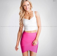 2014 new ladies skirts hot pink cut out skirts grey hl bandage skirts black pencil skirts wholesale dropshipping