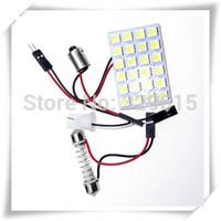 special offer 10pcs 24 SMD 5050 DC12V white Light Car interior dome lamp led reading Panel auto light