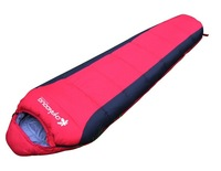 Autumn spring outdoor mummy sleeping bag,cotton duck down sleeping bag,compression and portable,2color 230*80*50CM,1700g