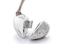 K-007 Wholesale Crystal Silver Heart 128 2GB 4GB 8GB 16GB 32GB USB 2.0 Flash Memory Stick Drive Thumb/Car/Pen Free Shipping Gift