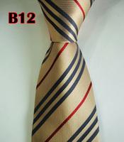 Factory On Sale! 100% Silk Stripe Tie Necktie Classic Man's Ties Necktie Men's suits tie Necktie pinstripe stripe blue B12