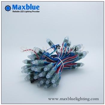 12mm WS2801rgb led pixel module 50pcs per string , IP66 DC5V input RGB full color led ws2801 light string free shipping