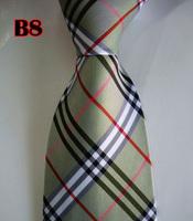 Factory On Sale! 100% Silk Stripe Tie Necktie Classic Man's Ties Necktie Men's suits tie Necktie pinstripe stripe blue B8
