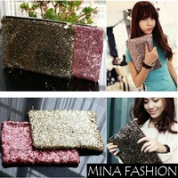 Dazzling Glitter Sparkling Bling Sequins Evening Party Bag Handbag Clutch  Freeshipping