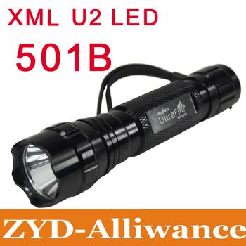 XML U2 Flashlight  UltraFire 501B 1600 Lumens Torch Lamp 5 Mode bicyle light  Free shipping
