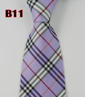 Factory On Sale! 100% Silk Stripe Tie Necktie Classic Man's Ties Necktie Men's suits tie Necktie pinstripe stripe purple  B11