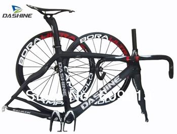 Road bike frameset  road frame/carbon fiber raw materails framesets full carbon frameset with wheelset , handlebar , saddle