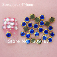 Free Shipping-royalblue 200pcs/lot special shine stone Nail Art Decoration
