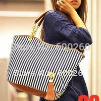holiday sale bags Handbags fashion women Stripe Street Snap Candid Tote Canvas Shoulder Bag drop shipping 5361