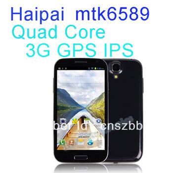 "O envio gratuito de 5.0 "" HaiPai MTK6589 Quad Core Android 4.2 1 GB RAM 4 GB ROM 1.2 GHz SmartPhone 3 G com GPS WIFI WCDMA 3 G telefone"