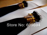 "FAST SHIPPING 18"" 20"" 100g/pk 1b# remy NANO RING hair extensions 100% Indian Human Hair black brown blond STOCK +100beads"