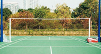 Wholesale&retail 2013 Hot Sell Inflatable Portable 6.1m  PVC Badminton Net Post With ABS Net,2unit/ctn