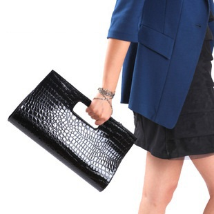 Small Size Brief,Elegant Crocodile Leather Handbag,PU Leather Bag,Shoulder Bag,6 colors Free Shipping(China (Mainland))