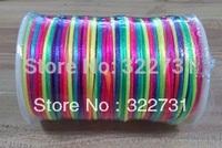 Freeshipping 2013 Hot Sale 100Yards Rainbow Chinese Knotting  Rat Tail Cord