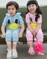 5PCS/LOT&Free Shipping!2013 2 colors kid clothing for summer,the children's dresses,,hot sales,origional,sports costume for boy