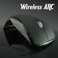 2.4G USB Folding Mouse Arc Wireless Optical Mouse Foldable Mice For PC Laptop Notebook Computer Accessories Black
