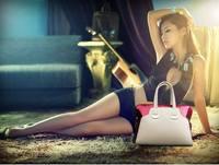 2015 New Women's Fashion Brief Crocodile Pattern Shoulder Bag Women Messenger Bag Free Shipping Bolsas Women Leather Bag