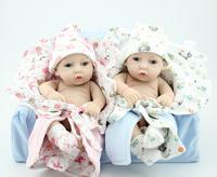 "12"" Reborn babies full vinyl mini reborn baby doll girl and boy washing doll handmade realistic lovely birthday present"