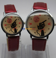 wholesale 200pcs/lot 2013 new elegant leather cat pattern cartoon watch TBBK56 two size design +Fedex/DHL  Free shipping