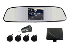 cheapest Car Reversing Kit / 3.5&quot;rearview mirror monitor 2CH video input+ Rearview Camera (IR+waterproof)+ Parking Sensor/(China (Mainland))