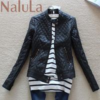 NAIULA 2014 spring women's fashion leather PU design leather short slim clothing female short leather jacket women SC5004