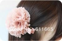 "Free shipping 9colors 3"" chic chiffon hair wedding decoration flowers,chiffon fabric hair flower accessories,50pcs/lot"