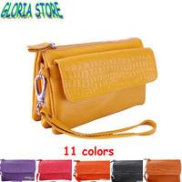 Women's Day Clutch Wallet brand design high quality Genuine leather handbag bag multifunctional Purse fashion lady messenger bag