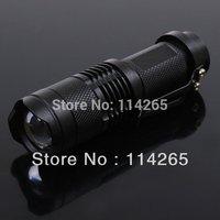 Mini LED Torch 7W(700LMs) CE CREE BQ Q5 LED Flashlight Adjustable Focus Zoom flash Light Lamp free shipping