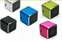 High Quality  30pcs/lot  Portable Music box  MD07U USB TF card Portable Mini Digital Speaker Color Free DHL shipping