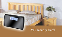 Free Shipping 2013 Multi-Functional HD1280*720P Digital Alarm Clock Camera, Hidden clock dvr V16 video camcorder support TF card