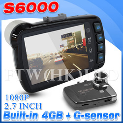2013 New S6000 DVR/Camera with Full HD 1080P 140 Degree Wide Angle Support G Sensor HDMI/AV OUT Interface IN STOCK(China (Mainland))
