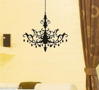 (Minimum order $5,can mix) (Various Colors) Chandelier Decor Mural Art Wall Sticker Decal WY1188