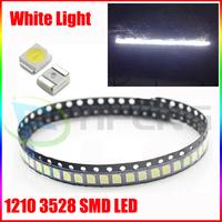 50PCS,Super Bright White SMD SMT PLCC-2 3528 1210 LED& Free Shipping