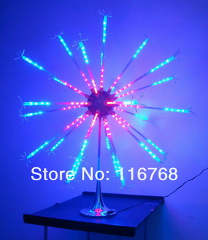 2pcs/lot Multi color  LED Starburst Lights LED Fireworks Lamps Indoor Lighting