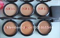 Free shipping! NEW Studio fix powder plus foundation +powder puffs 15g(1pcs/lot)