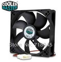 Black Color 12V 4Pin Cooler Master 120mm x 25mm 12025 7 Sickle Leaves Mute PC Case System Cooling Fan